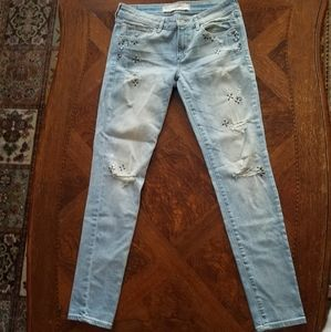 Abercrombie & Fitch embellished jeans 6